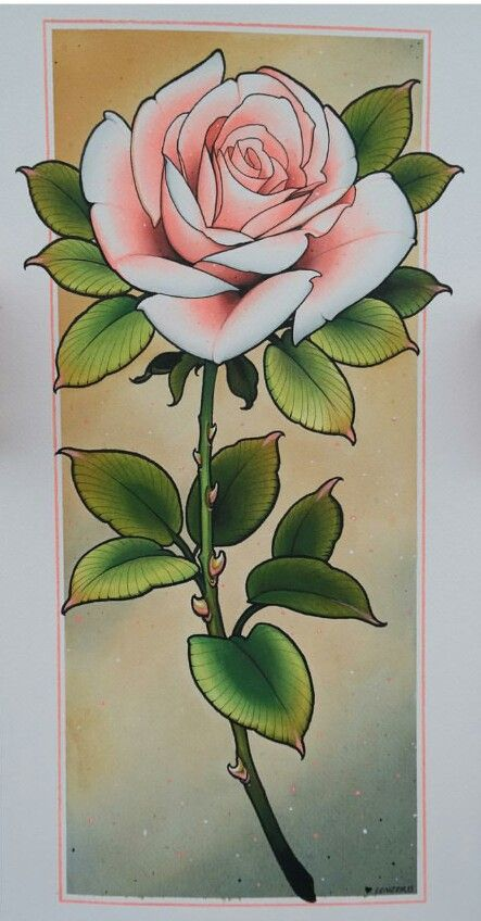 Tattoo New School Flower Drawing Traditional Rose Tattoos Roses Drawing