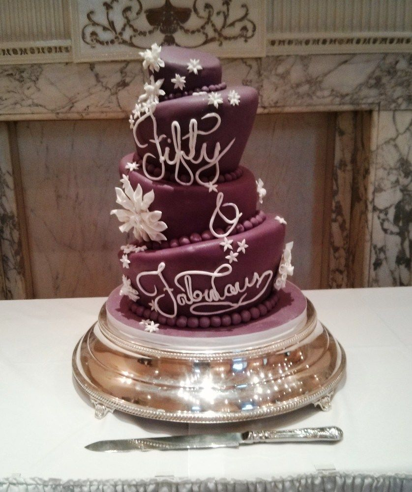 50th Birthday Cakes For Her Fabulous At Fifty Birthday Cake