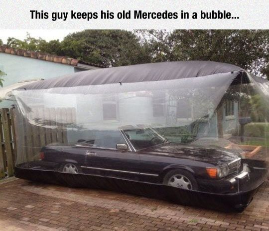 Cool Bubble Garage Interior Design Living Room Old Mercedes