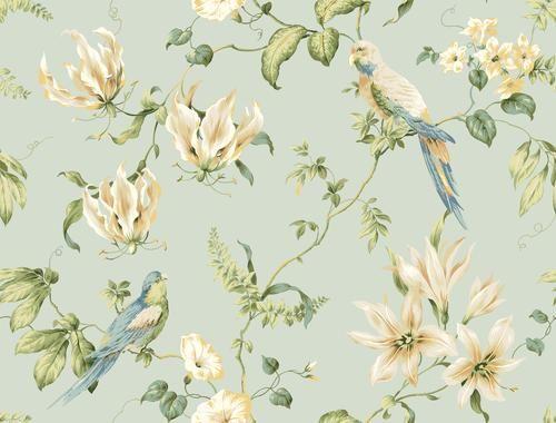 Blue Book Tropical Floral Wallpaper At Menards