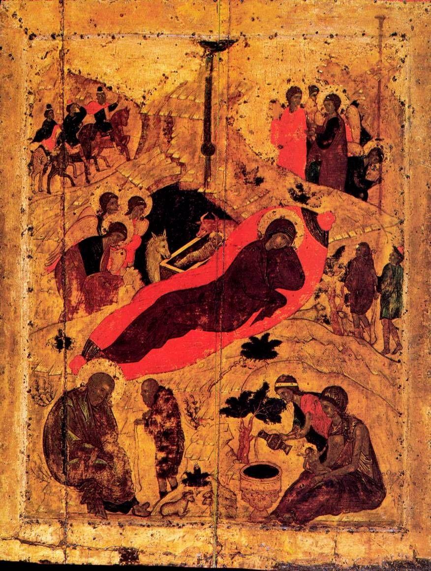 Андрей Рублев 1405 г. 81 x 62 см икона. Праздничный чин Благовещенский собор Московского Кремля