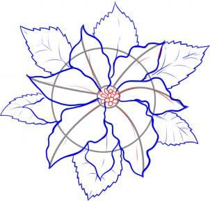 How To Draw A Poinsettia Flower Drawing Christmas Card Art Christmas Paintings