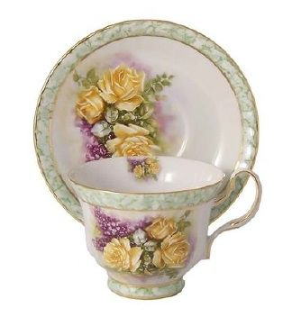 Gold rose cup and saucer.