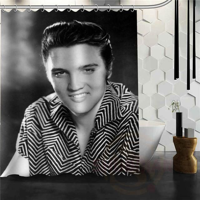 Custom Home Decor Elvis Presley Fabric Modern Shower Curtain