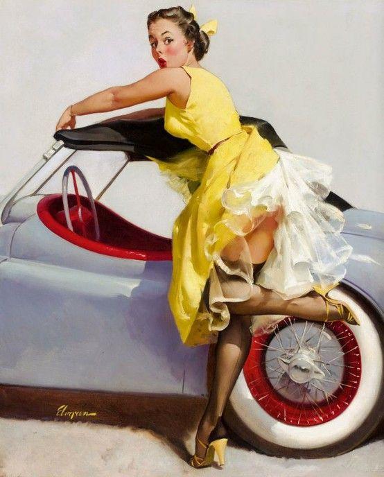Gil Elvgren Vintage Pin Up Girl Illustration | Pin-Up Girls | Sugary ...