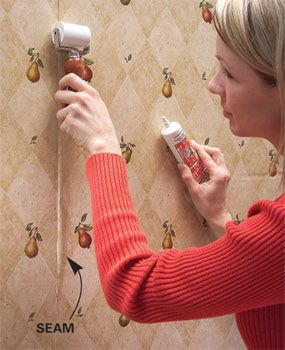 Repairing Loose Wallpaper Seams Is Fairly Simple Just Apply A Seam Repair Adhesive It Provides Solid Bond And Will Keep The From Coming