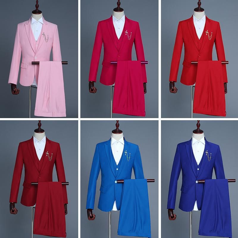 2018 Groom Tuxedo Wedding Suits Slim Fit Men Business Suits New