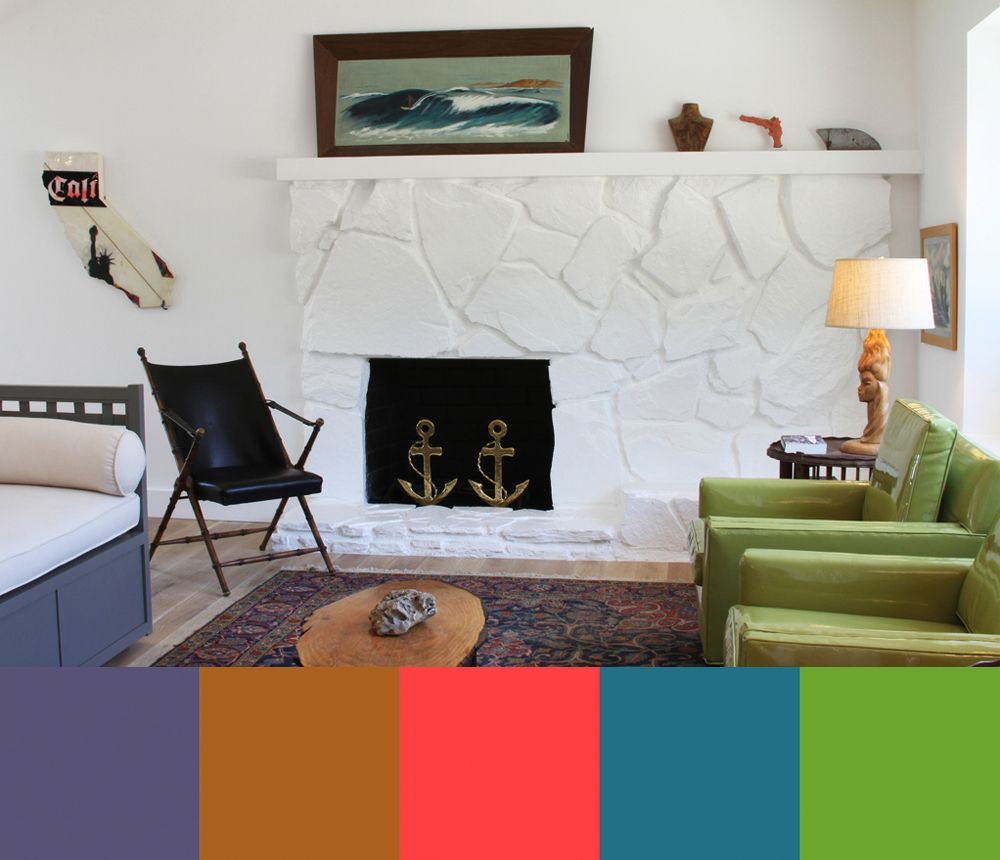 Color palette for home interiors  Crisp Modern Interiors Photographed by Marcia Prentice  Design