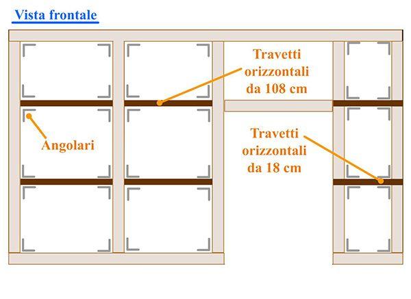 Istallazione travetti orizzontali come costruire una - Costruire una parete divisoria ...