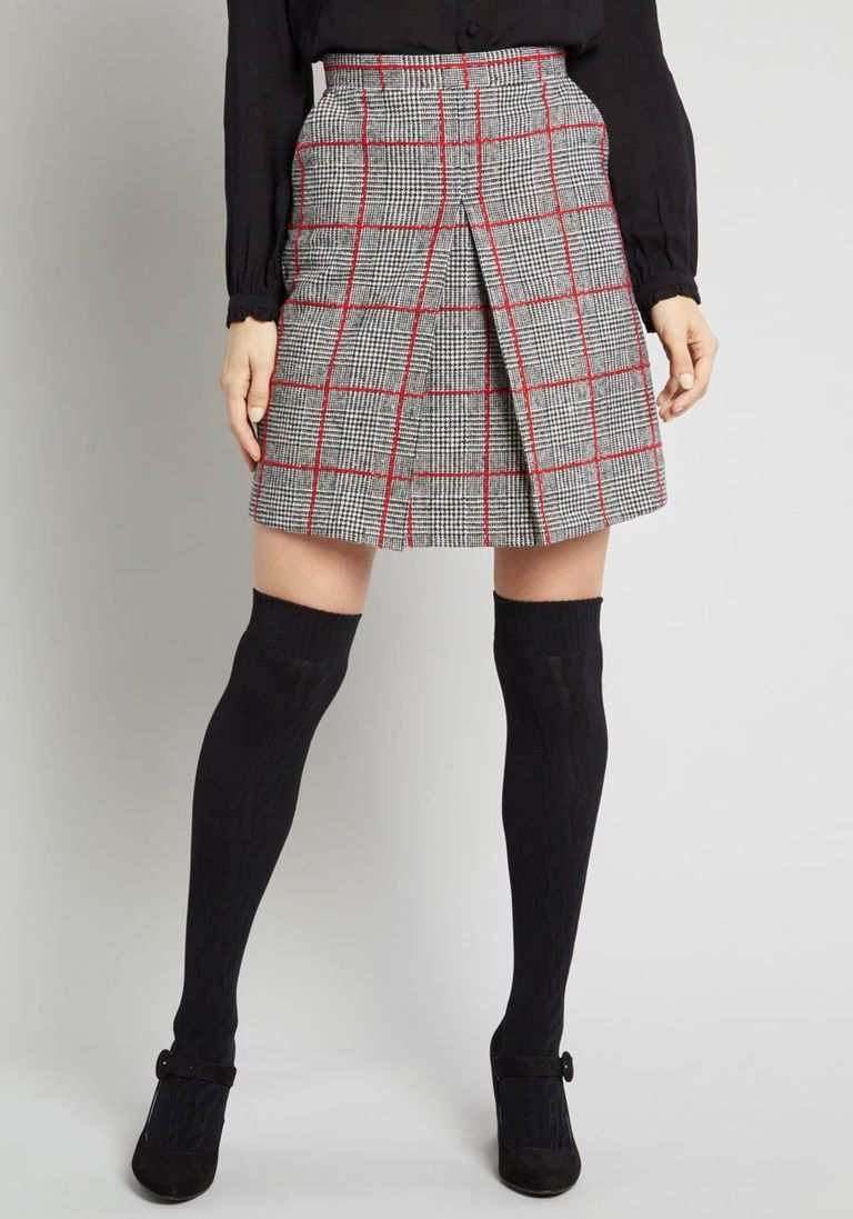 f89c4ee5fe High Honors Plaid Skirt in 12 (UK) - A-line Skirt Mid by Louche from  ModCloth