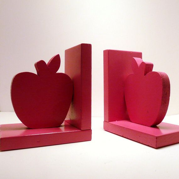 Wooden Le Bookends Hot Pink Home Accents By Nashpop 26 00