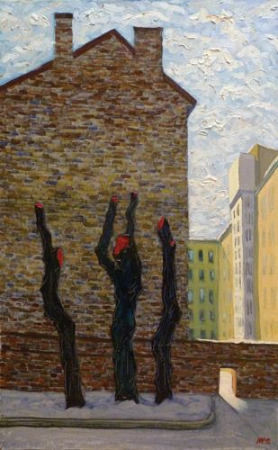 Ruben Monakhov.  Truncated boughs.  oil on canvas,  50x80 cm., 2012.