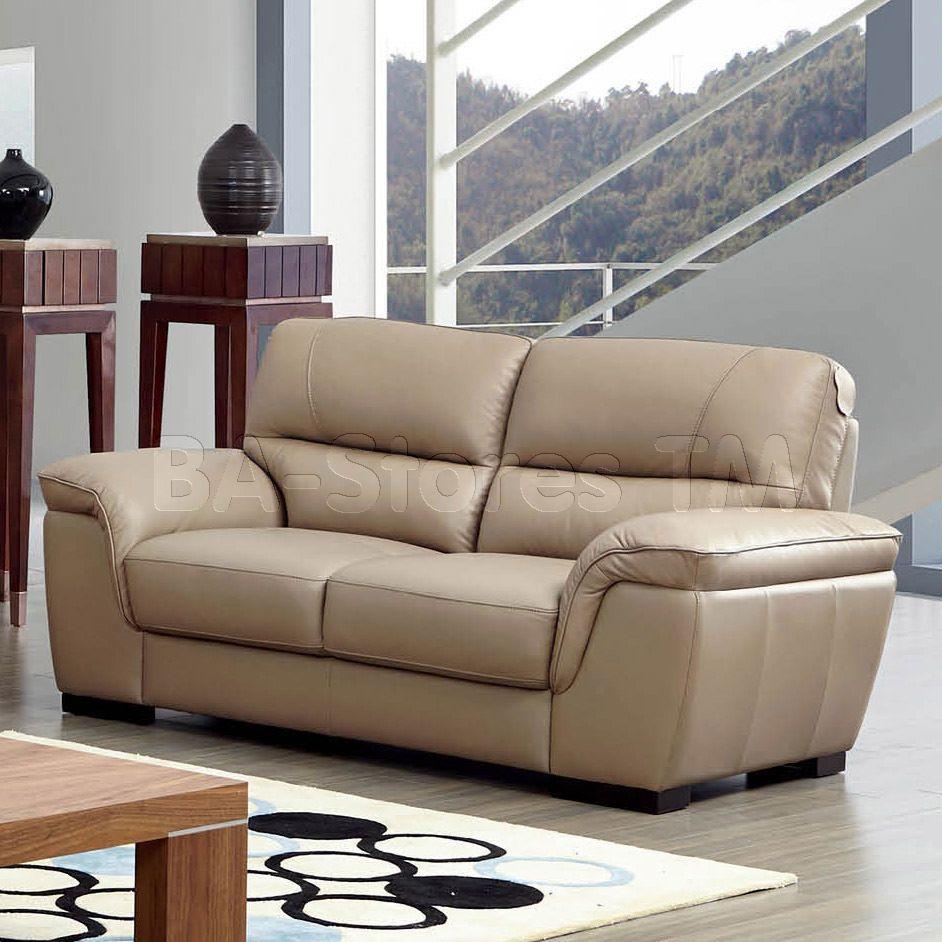 8052 Modern Loveseat In Beige Leather By Esf Furniture