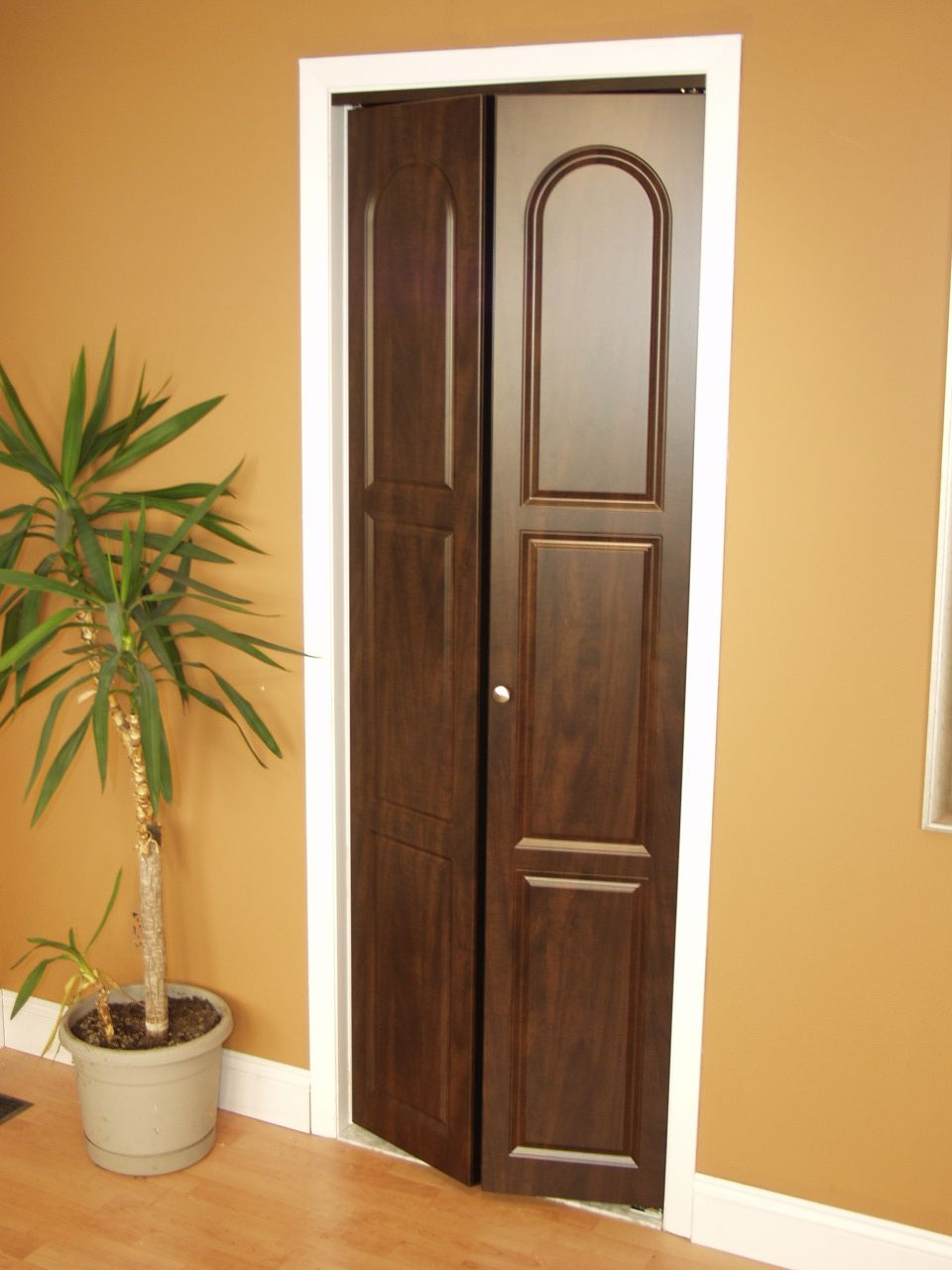 Wedding Registry Idea Thermofoil Bi Fold Doors Dark Wood