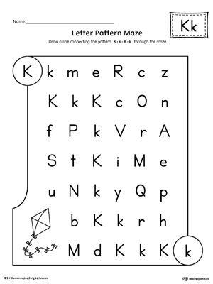 Letter K Pattern Maze Worksheet   Maze, Worksheets and Students