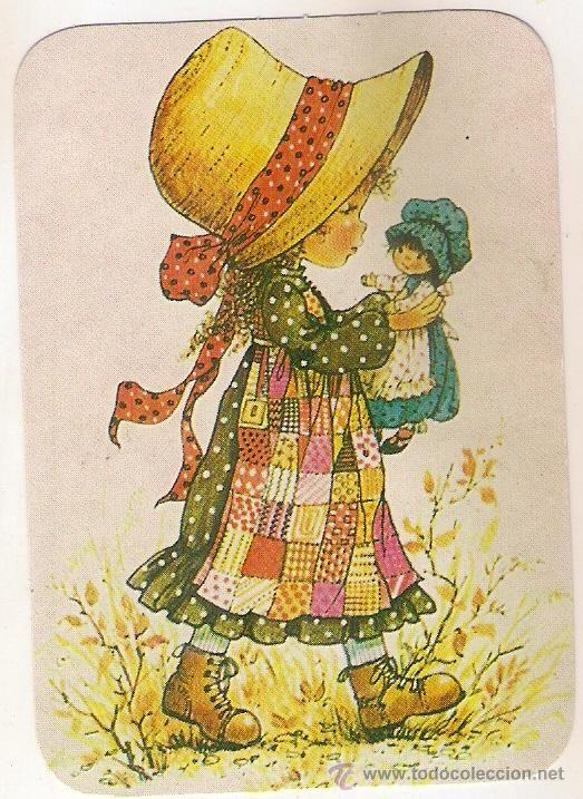 53327 calendario dibujo ni a jugando con mu eca a o 1984 - Ilustraciones infantiles antiguas ...