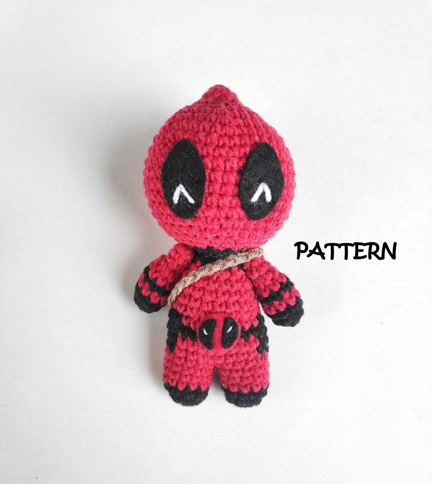 Marvel's Deadpool Doll Amigurumi Crochet Free Pattern | Häkeln ... | 1679x1500