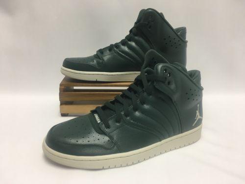 size 40 7ee53 6c6f1 Nike-Air-Jordan-1-Flight-4-Basketball-Shoes-Green-White-820135-300-Men-039 -s-Size-11