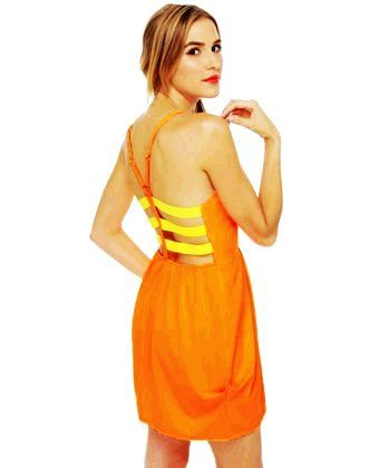 Wonders Never Cease Neon Orange Dress -Valentine's Day Dress code and Color code meanings