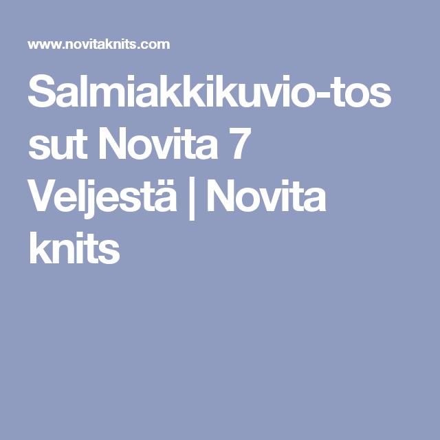 Salmiakkikuvio-tossut Novita 7 Veljestä | Novita knits
