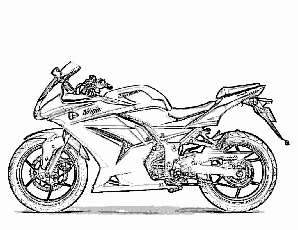 Motor Cycle Coloring Page Lovely Free Printable Motorcycle Coloring Pages For Kids In 2020 Heart Coloring Pages American Flag Coloring Page Sailor Moon Coloring Pages