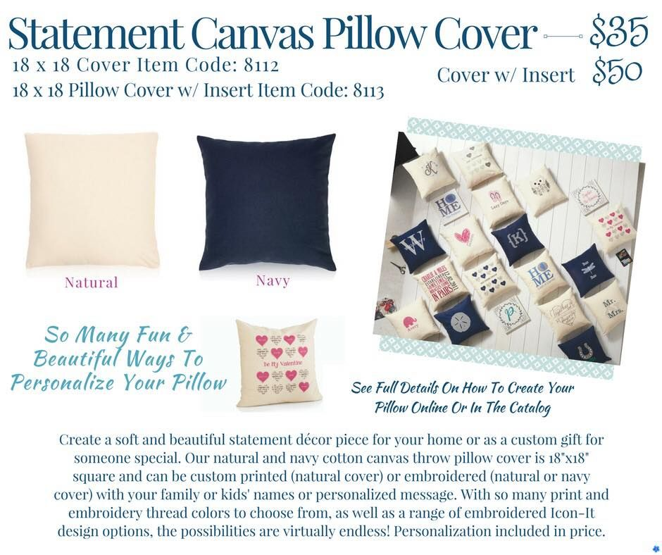 Thirty-One Statement Canvas Pillow Cover Spring/Summer 2018 | THIRTY ...