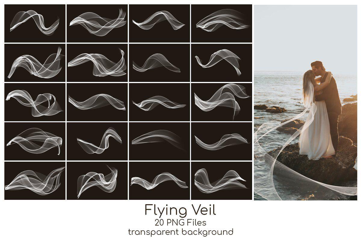 Flying Veil Overlays Photoshop Overlays Overlays Transparent Background Overlays Transparent