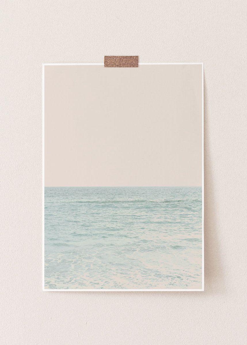 Beach Print, Pastel Wall Art, Beach Art Print, Beach, Wall Print, Pastel Decor, Photography, Wall Decor, Ocean Print, Ocean Art Print, Ocean