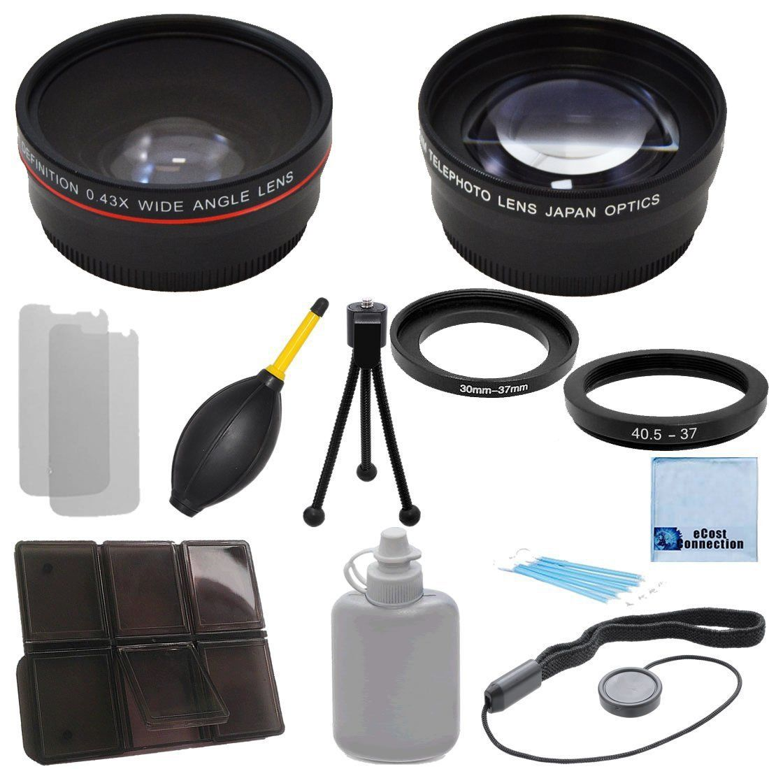 Pro Series 37mm 043x Wide Angle Lens 22x Telephoto Lens With
