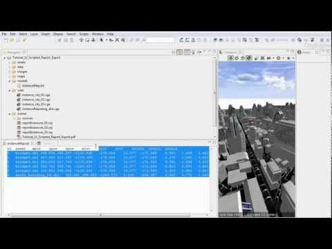 12 CityEngine Tutorial: Scripted Report Export --- This video