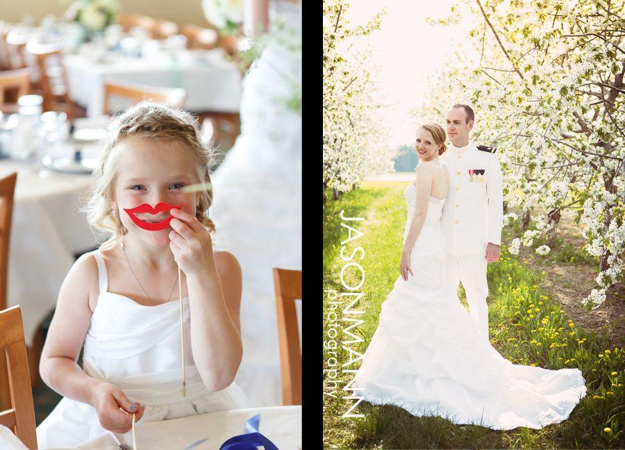 Door County Spring Cherry Blossom & Navy Uniform Wedding Sneak Peek.    Photos by Jason Mann Photography   ~ 920.246.8106 ~ http://www.jmannphoto.com