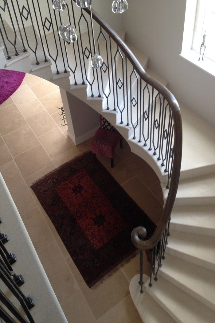 Cantilever Anstrude Staircase With Landing And Bespoke Balustrade Staircase Staircase Landing Staircase Design
