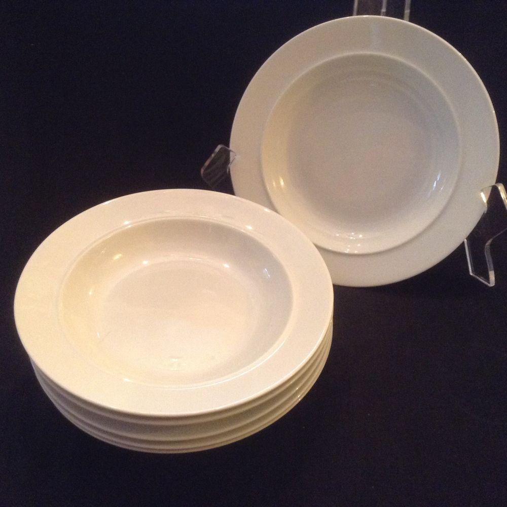 Dansk Cafe Blanc six White Rimmed Soup Bowls & Dansk Cafe Blanc six White Rimmed Soup Bowls | White rims Cafes and ...