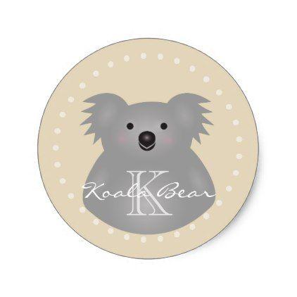 Cute cuddly australia baby koala bear monogram classic round sticker cute cuddly australia baby koala bear monogram classic round sticker baby gifts giftidea diy unique negle Gallery