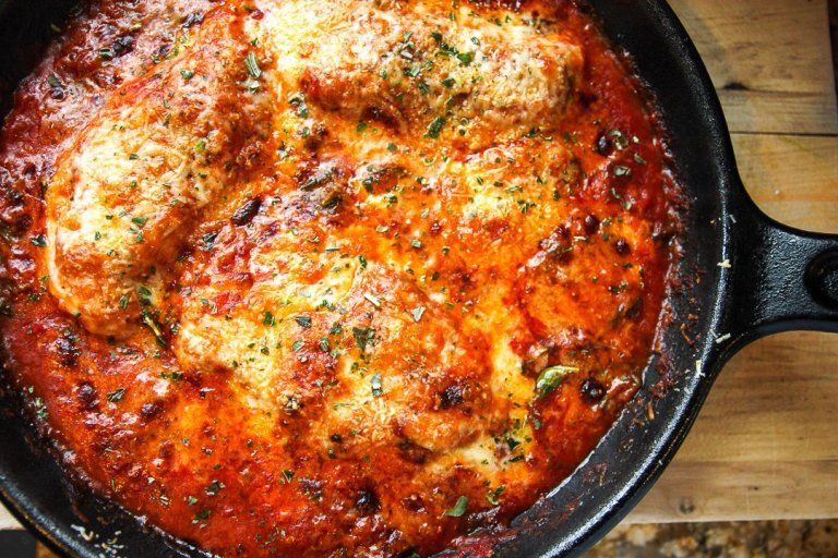 Insanely Easy Spinach & Chicken Parmesan Recipe #grilledchickenparmesan