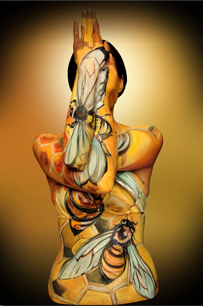 Jaw Dropping Portraits Of Animals Painted On Human Bodies Body Art Painting Animal Paintings Body Painting