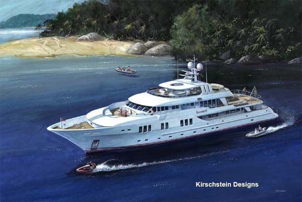 The new Inace Yachts 135' (41 2M) LONG RANGE MEGA MOTOR