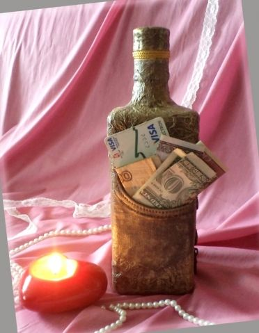 Свадебные бутылки + бокалы. / Декупаж / Декупаж. Работы пользователей