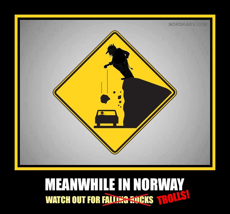 Afbeeldingsresultaat voor watch out for trolls norway