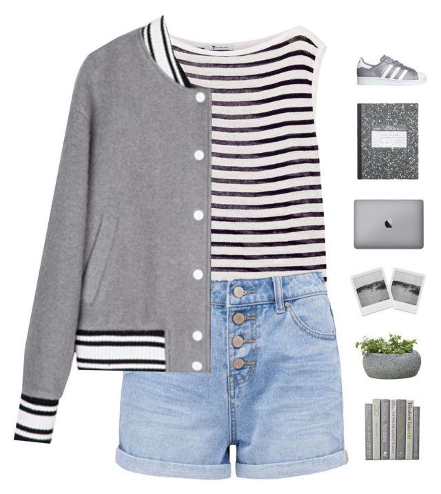 """Spring"" by genesis129 ❤ liked on Polyvore featuring T By Alexander Wang, Campania International, adidas Originals and vintage"