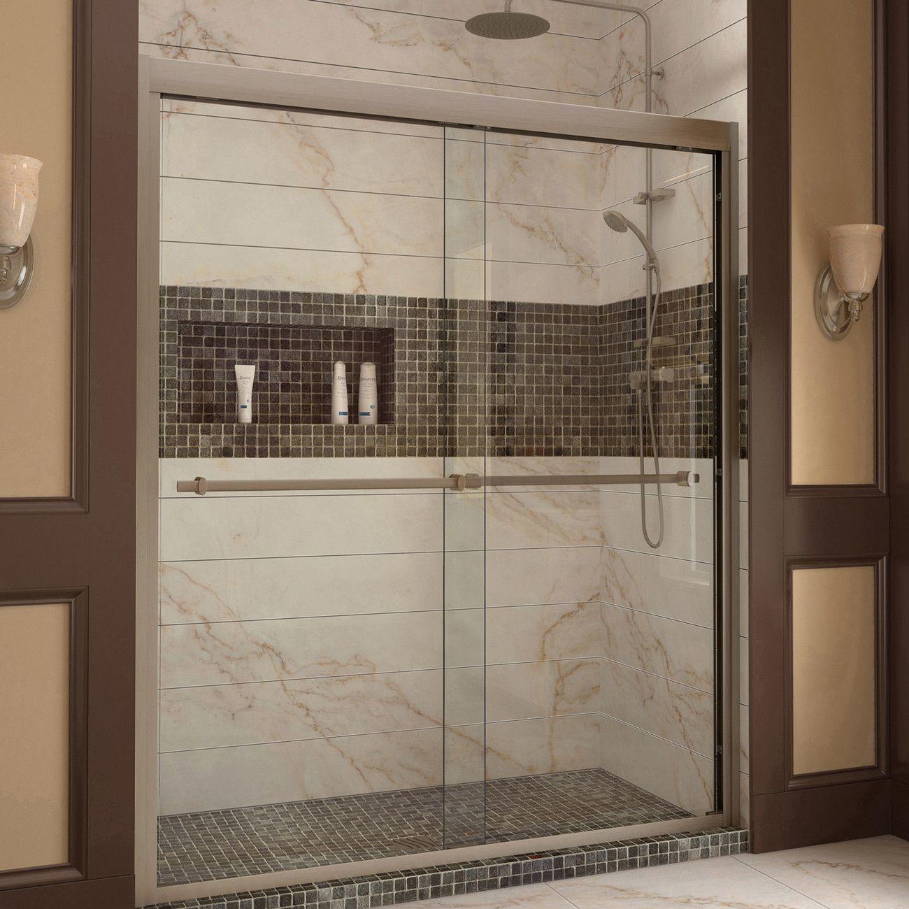 DreamLine DL-6953C-04CL Duet Frameless Bypass Sliding Shower Door ...