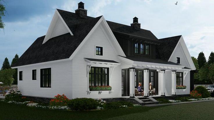House Plan 098-00319 - Modern Farmhouse Plan: 2,467 Square Feet, 3 Bedrooms, 2.5 Bathrooms