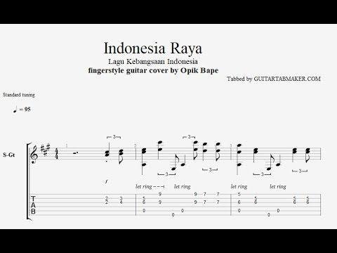 Indonesia Raya Acoustic Fingerstyle Guitar Tabs Pdf Guitar Sheet