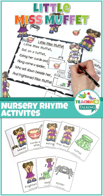 Nursery Rhyme Activities for Little Miss Muffet