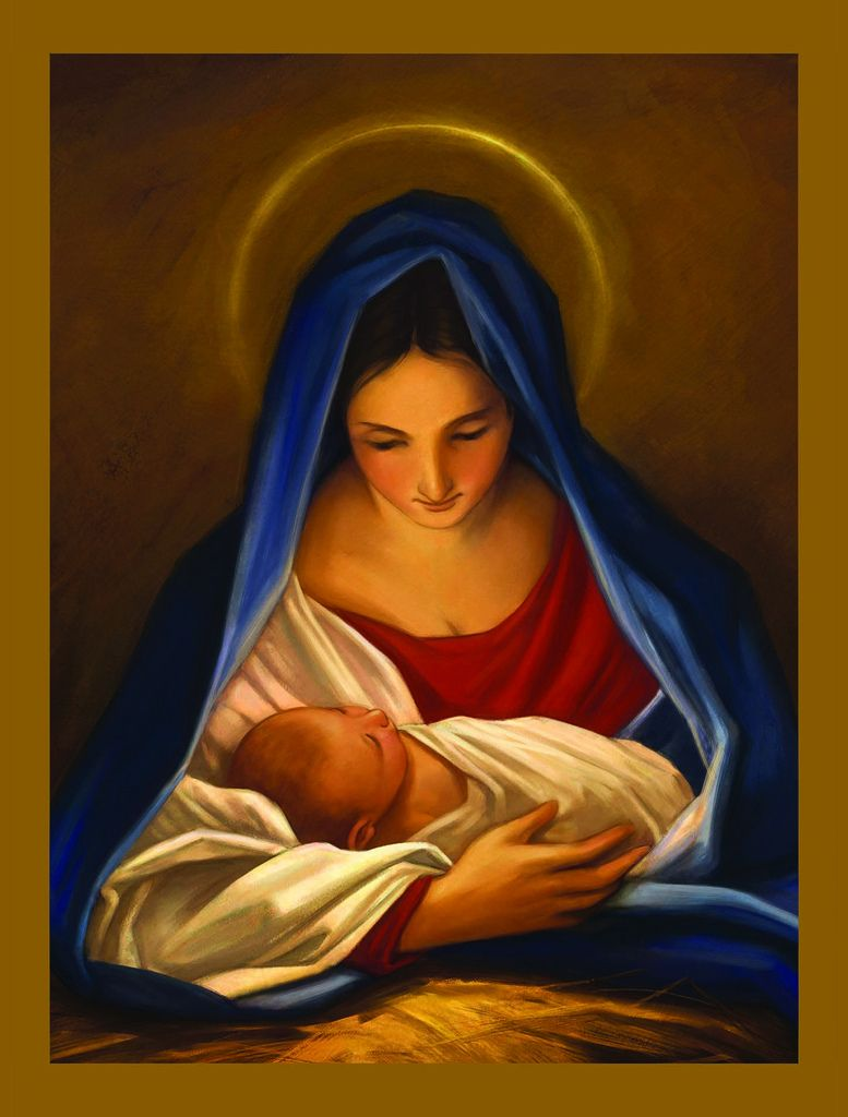 Mary And Jesus Christmas Cards Mary and baby jesus christmas card ...