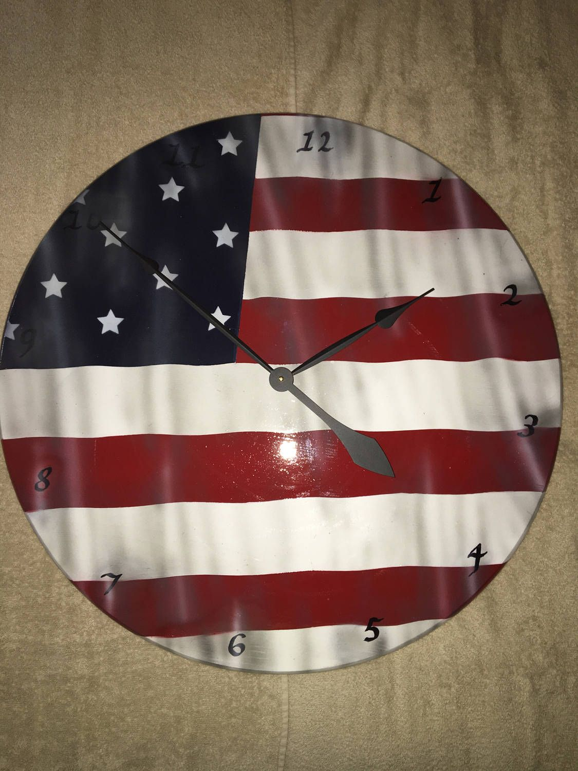 New In Our Shop Ol Glory Wood Clock Great Gift Or Addition To