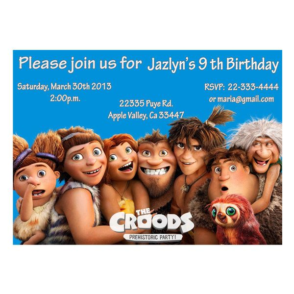 The Croods 2 Movie: The Croods Birthday Party Invitations By LuLuLoLa2022 On