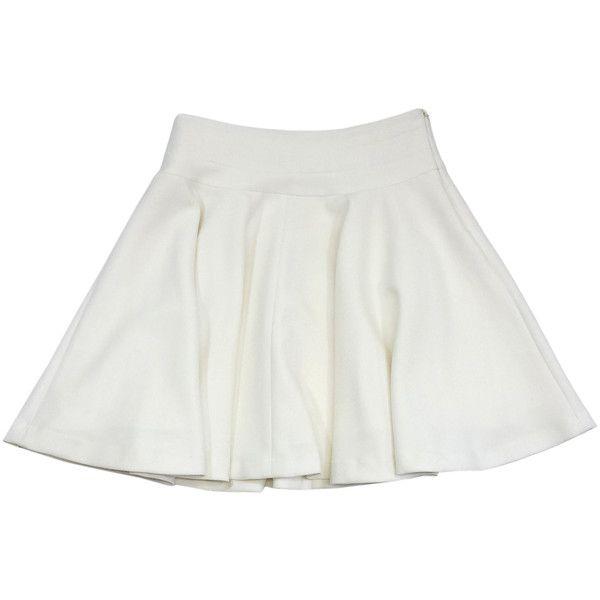 Pre-owned Milly White Skater Skirt (€67) ❤ liked on Polyvore featuring skirts, white skater skirt, skater skirts, milly skirt, white flared skirt and circle skirts
