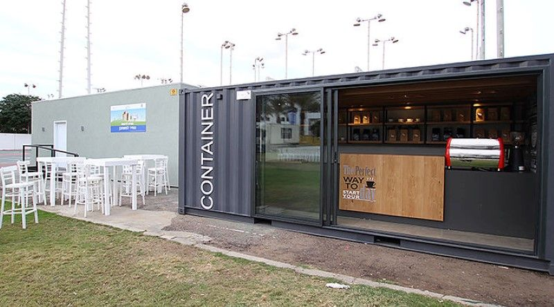 Mobile coffee shop built in five weeks for a design for Coffee shop design software