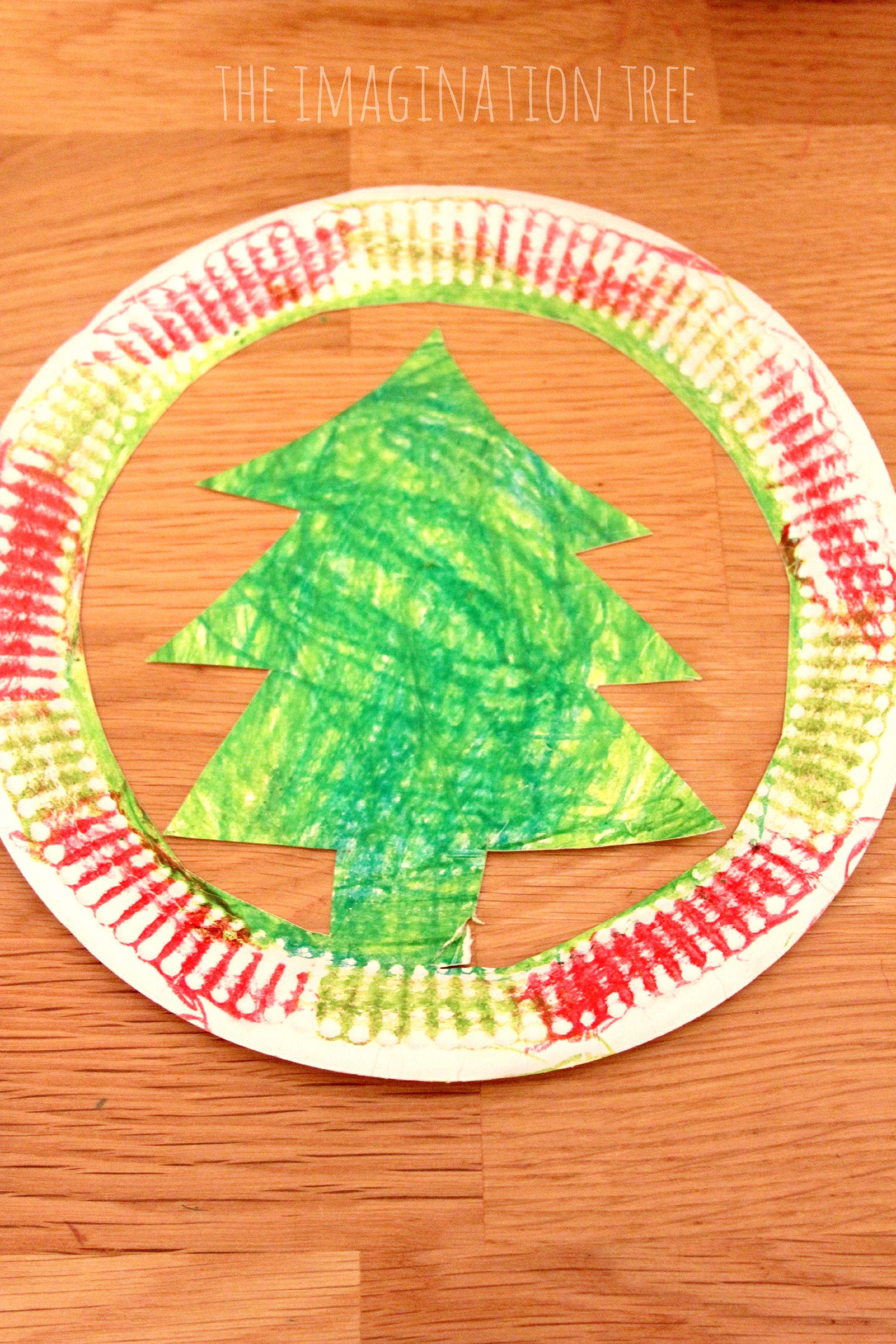 Paper Plate Christmas Tree Hat Craft Christmas Tree Hat Paper Christmas Tree Christmas Crafts For Kids
